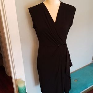Michael Kors black wrap side flutter dress Sz. S
